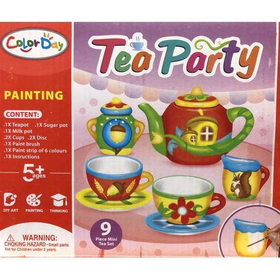 Set pictura ceramica Ceainic 9 piese