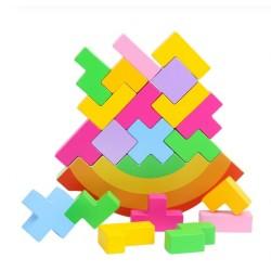 Balanta Tetris din lemn