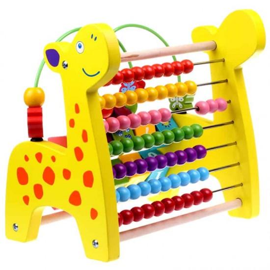 Jucarie educativa din lemn 3 in 1 - Girafa jucausa