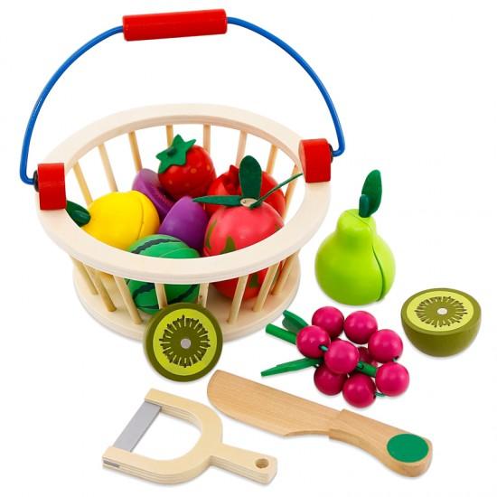Jucarie din lemn - Cosuletul cu fructe