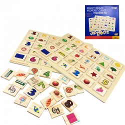 Joc memorie din lemn tip Mahjong dimensiune mare