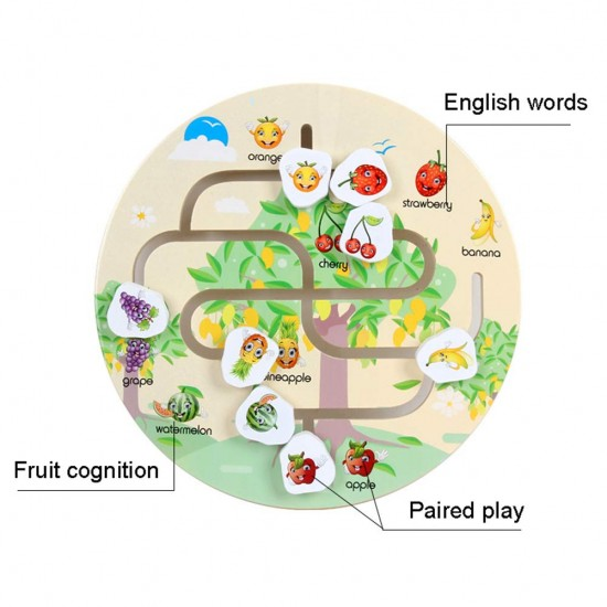 Joc din lemn Labirintul Fructelor
