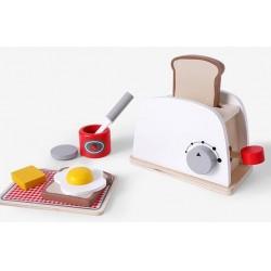 Set Toaster din lemn cu accesorii