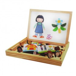 Tabla 3 in 1 cu figurine magnetice