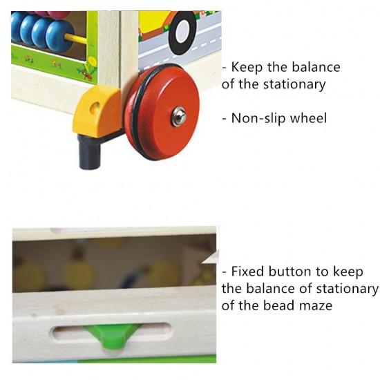 Antemergator din lemn cu 6 activitati