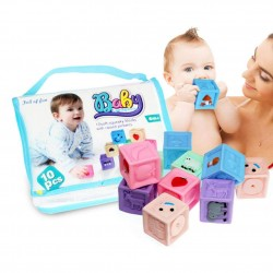 Set 10 Cuburi cu imagini pentru bebelusi Baby Learing