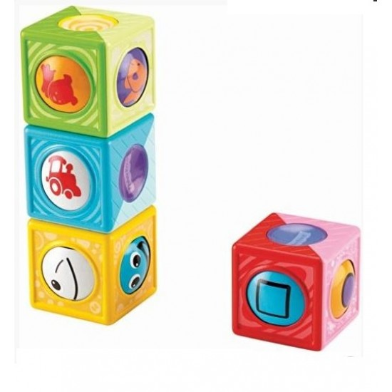 Cuburi de stivuire pentru bebelusi Roller Blocks