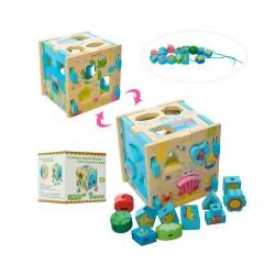 Cub lemn Montessori sortator si snuruit - Viata marina
