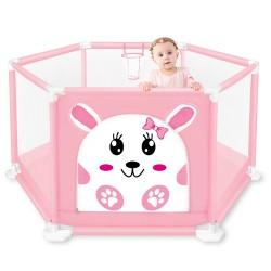 Tarc de joaca pentru bebelusi - Iepurasul roz