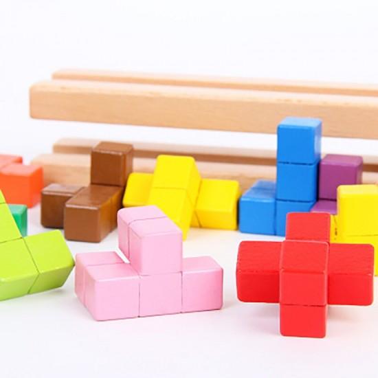 Turn montessori cu piese tetris