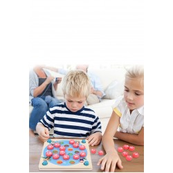 Joc de memorie din lemn 4 in 1 Multifunctional Memory Chess