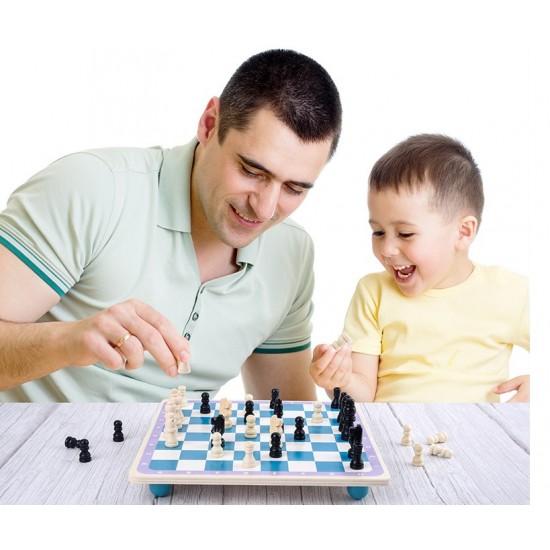 Joc de memorie din lemn 4 in 1 Multifunctional Memory Chess