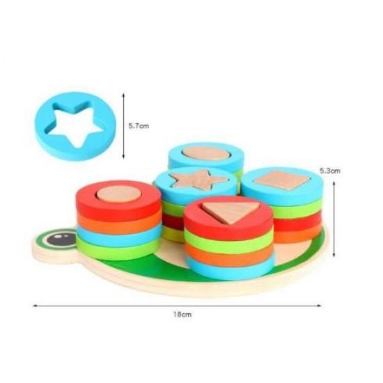 Broscuta cu 5 forme geometrice