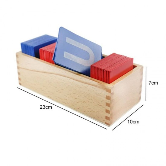 Cartonase senzoriale Montessori - Alfabetul cu litere mari si litere mici de tipar