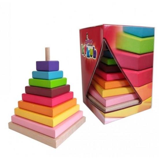 Piramida lemn curcubeu