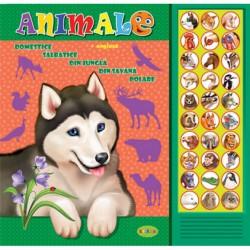Carte cu sunete - Animale romana si engleza