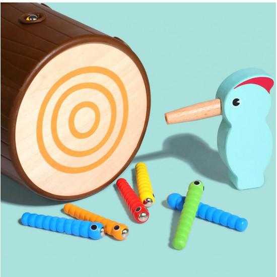 Joc lemn magnetic de indemanare Ciocanitoarea