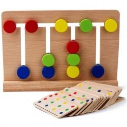 Patru in linie Labirint asociere Culori Montessori
