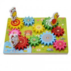 Puzzle 3D Animale pe roti zimtate
