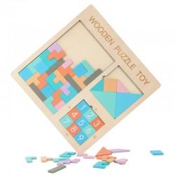 Puzzle Tangram 3 in 1 pastel