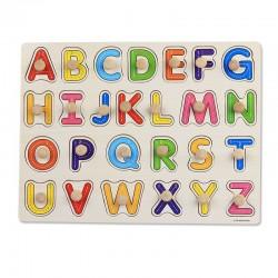 Puzzle Invatam sa scriem literele alfabetului  cu pini