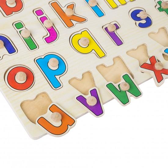 Puzzle cu pini litere mici
