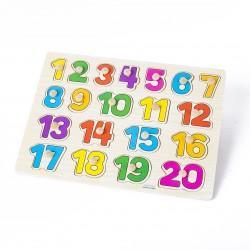 Puzzle cifre cu pini de la 1 la 20
