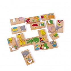 Puzzle domino din lemn cu Animale