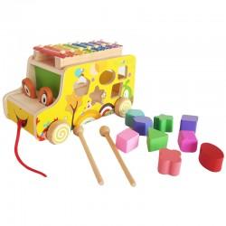 Masina xilofon de lemn cu forme