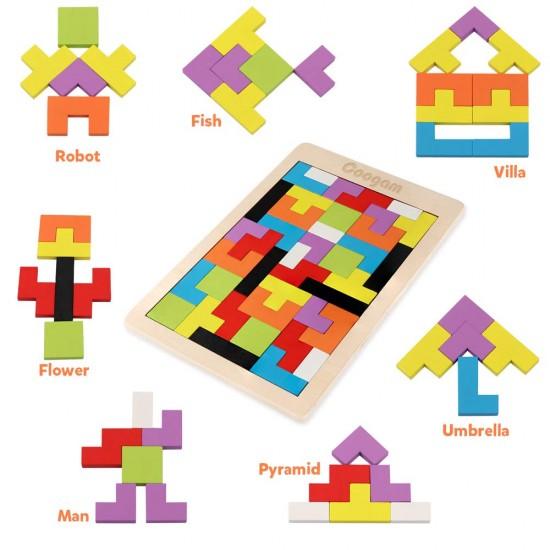 Joc din lemn Tetris