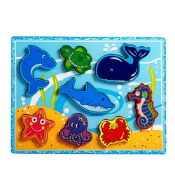 Puzzle incastru cu animale marine