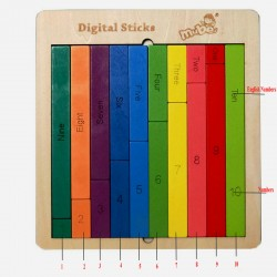Joc educational Matematica Colorata din lemn