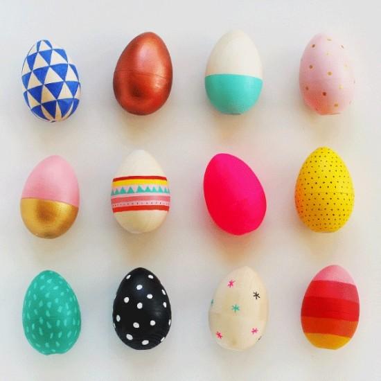Ou din lemn craft natur pentru Decorat - Paște