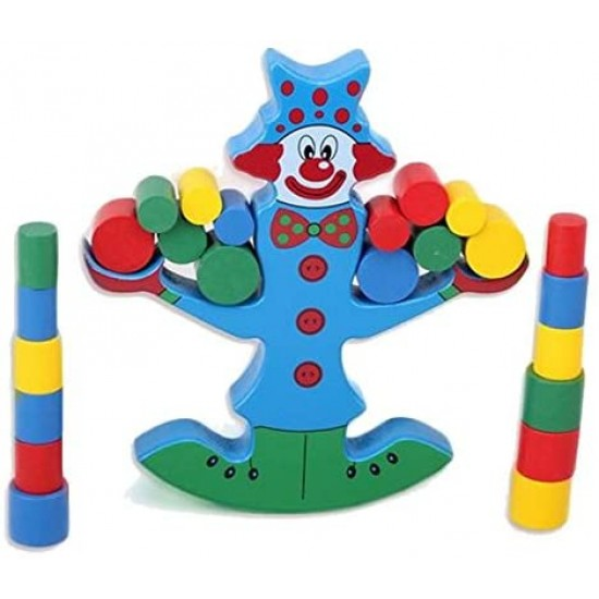 Clovn Joc de echilibru din lemn