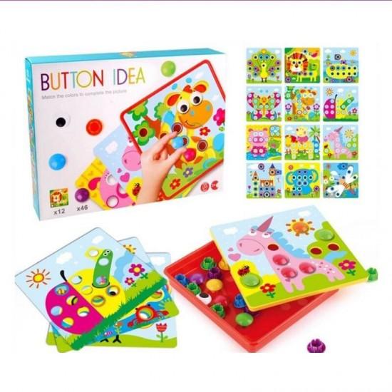 Joc creativ Button idea 12 planse