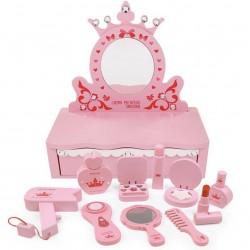 Masa din lemn cu accesorii Printesa Roz