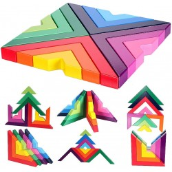 Blocuri geometrice puzzle educativ de stivuire
