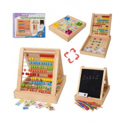 Joc educativ multifunctional din lemn