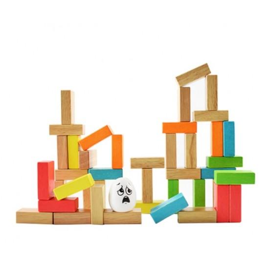 Joc de de echilibru si indemanare din lemn zidul lui Humpty Dumpty