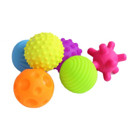 Set 6 mingi senzoriale pentru bebelusi