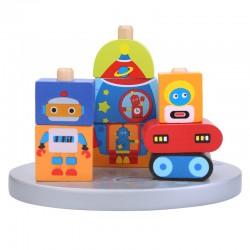 Cuburi din lemn - Robotii stintifici