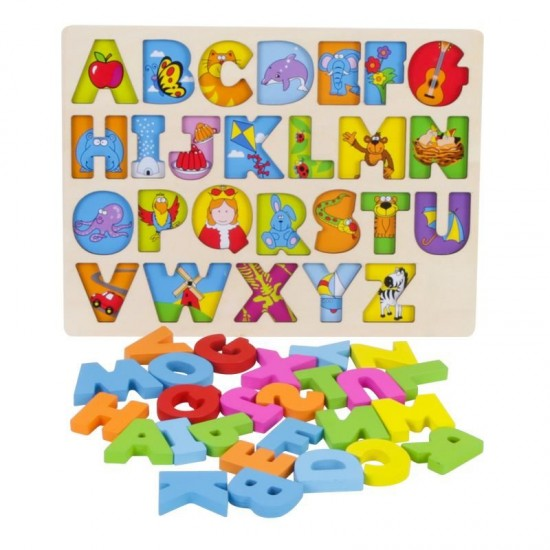 Puzzle alfabet incasru Onshine