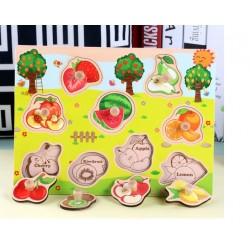 Fructe dulci Puzzle din lemn cu maner