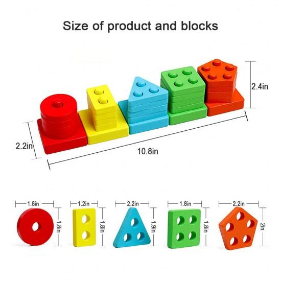 Sortator mobil cu 5 forme geometrice colorate