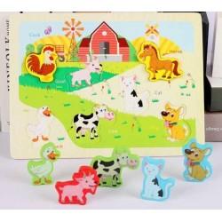 Puzzle 3D Animale de la ferma