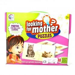Puzzle cu imagini reale Mama si Puiul