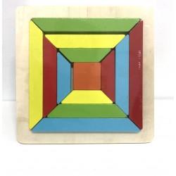 Puzzle color laturile Patratului