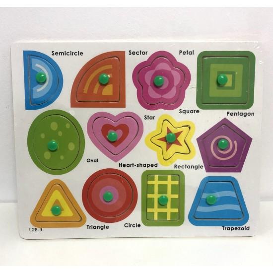 Puzzle 12 forme geometrice colorate