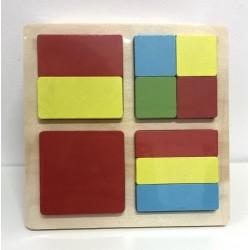 Puzzle color patrile intregului Patrat