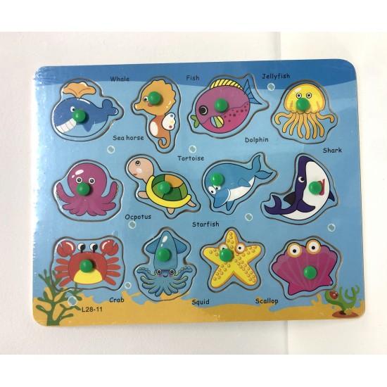 Puzzle 12 animale marine
